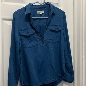 Madewell Denim Pull Over Top